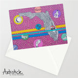 Florida Note Cards, set of 6 blank cards with envelopes