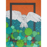 Flying Owl Signed Art Print