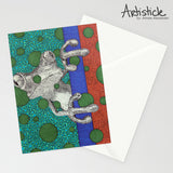 Frog Note Cards, set of 6 blank cards with envelopes