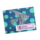 Fish note cards, set of 6 blank cards with envelopes