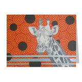 Giraffe Face Note Cards, set of 6 blank cards with envelopes