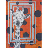 Giant Giraffe Note Cards, set of 6 blank cards with envelopes