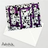 Grape Soda Note Cards, set of 6 blank cards with envelopes