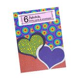 Heart Breakers Note Cards, set of 6 blank cards with envelopes