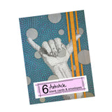 Hang Loose Note Cards, set of 6 blank cards with envelopes