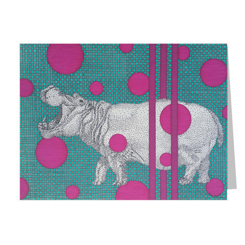 Hippo 5x7 Greeting Card