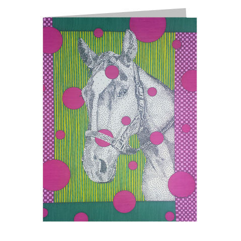 Horse Face 5x7 Greeting Card