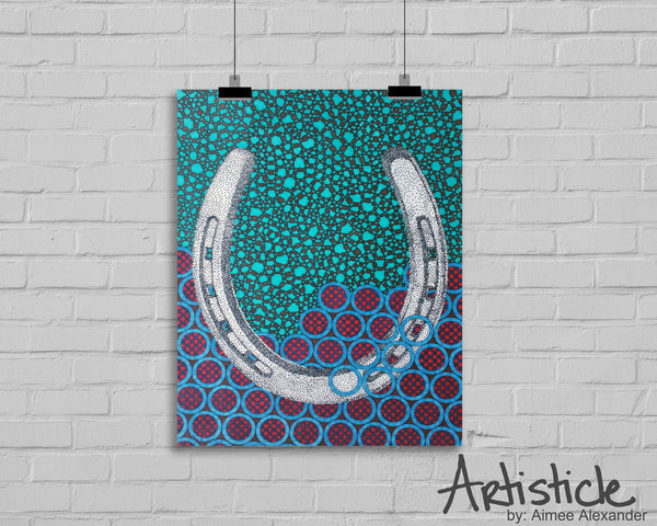 Horseshoe Signed Art Print