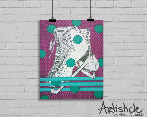 Ice Skate signed art print