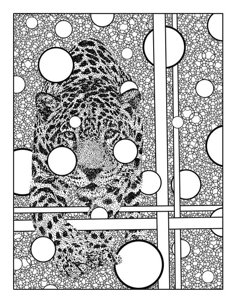 FREE Jaguar Digital Coloring Page