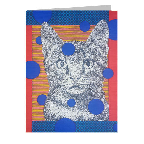 Kitty Face 5x7 Greeting Card