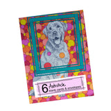 Labrador Note Cards, set of 6 blank cards with envelopes