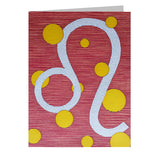 Leo Note Cards, set of 6 blank cards with envelopes
