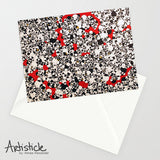 Little Red Note Cards, set of 6 blank cards with envelopes