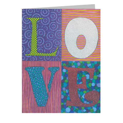 Love Stamp 5x7 Greeting Card