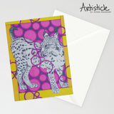 Lynx Note Cards, set of 6 blank cards with envelopes