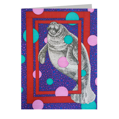 Manatee 5x7 Greeting Card