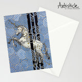 Magic Unicorn Note Cards, set of 6 blank cards with envelopes