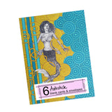 Mysty the Mermaid Note Cards, set of 6 blank cards with envelopes