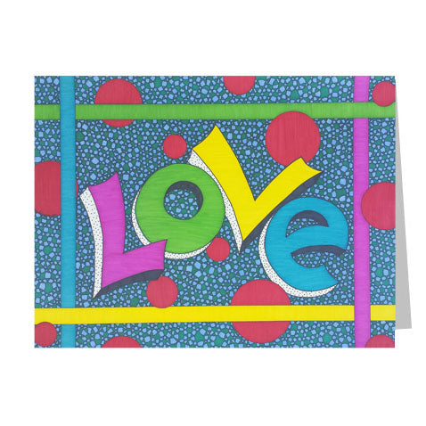 Neon Love 5x7 Greeting Card