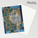Navy Jaguar 5x7 Greeting Card