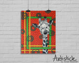 Orange Giraffe signed art print
