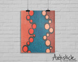 Orange Ovals signed art print