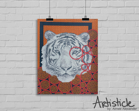 Orange Tiger Signed Art Print