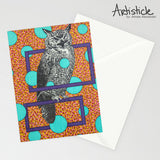 Owl Note Cards, set of 6 blank cards with envelopes