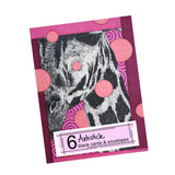 Pink Giraffe Note Cards, set of 6 blank cards with envelopes