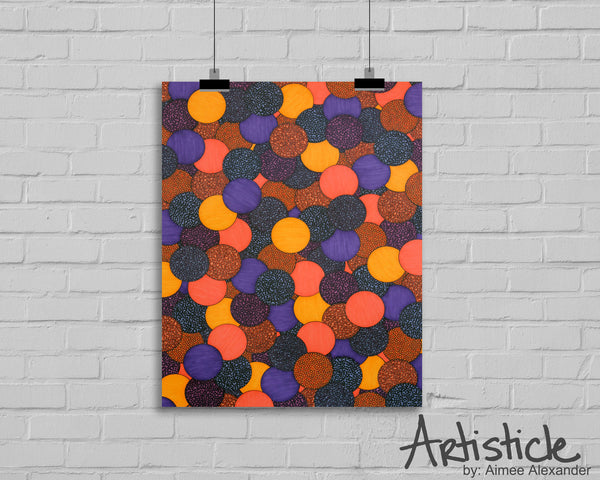Plum Drops signed art print