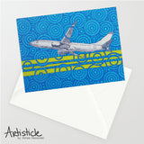Airplane Note Cards, set of 6 blank cards with envelopes
