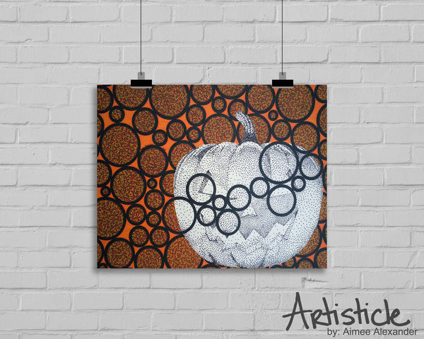 Pumpkin signed art print