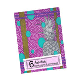 Pineapple note cards, set of 6 blank cards with envelopes