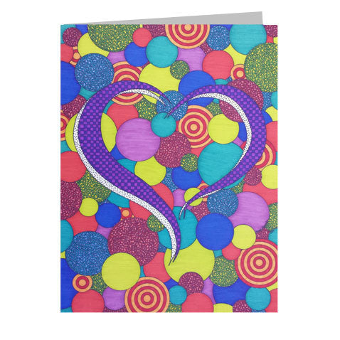 Patchwork Heart 5x7 Greeting Card