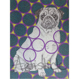 Pug Note Cards, set of 6 blank cards with envelopes