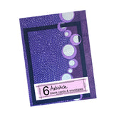Purple Note Cards, set of 6 blank cards with envelopes