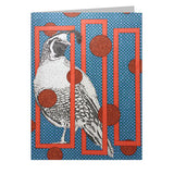 Quail 5x7 Greeting Card