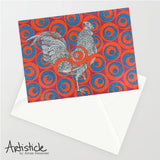 Ruby Rooster 5x7 Greeting Card