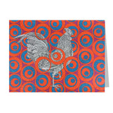 Ruby Rooster Note Cards, set of 6 blank cards with envelopes
