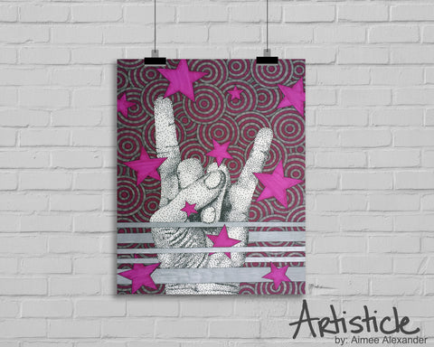 Rock Star signed art print
