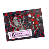 Red Octopus Note Cards, set of 6 blank cards with envelopes