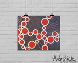 Red Holes signed geometric art print