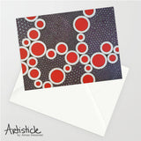 Red Holes 5x7 Greeting Card