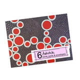 Red Holes Note Cards, set of 6 blank cards with envelopes