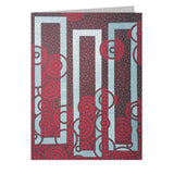 Reds Note Cards, set of 6 blank cards with envelopes