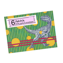 Raptor Note Cards, set of 6 blank cards with envelopes