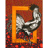 Rooster signed art print