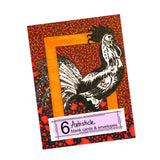 Rooster Note Cards, set of 6 blank cards with envelopes