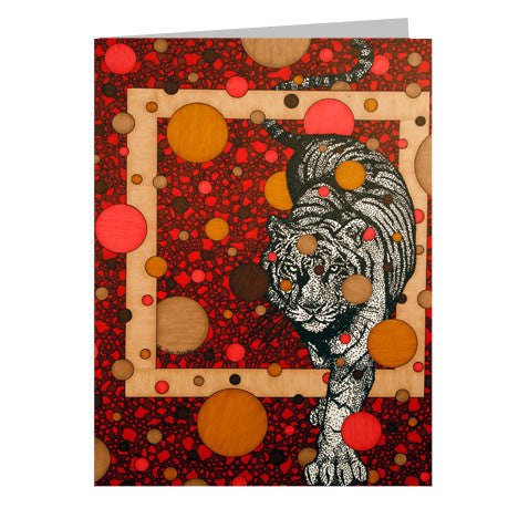 Red Tiger 5x7 Greeting Card